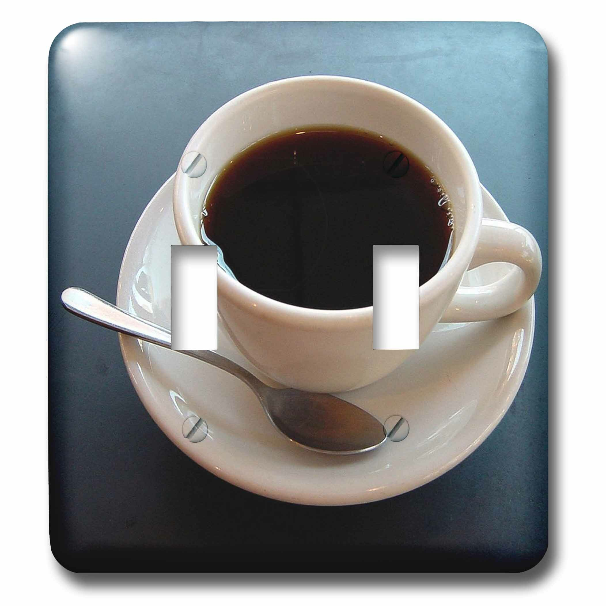 3drose Coffee Cup 2 Gang Toggle Light Switch Wall Plate Wayfair