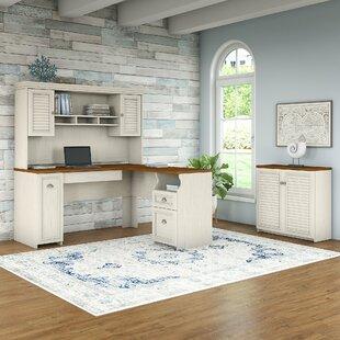 Beachcrest Home Oakridge 3 Piece L-shaped Desk Office Suite