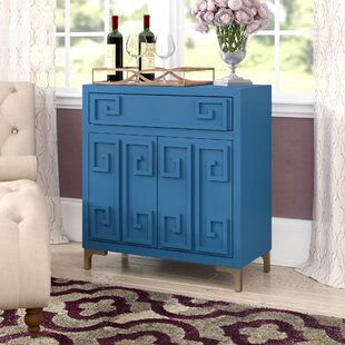 Everly Quinn Gilbery 2 Door Wine Bar Cabinet