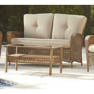 Edwards 2 Piece Rattan Sofa Seating Group with Cushions