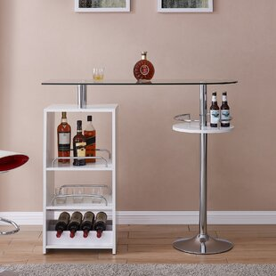 Ken Tall Bar with Wine Storage by Orren Ellis