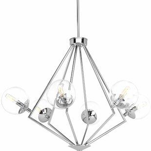 Ivy Bronx Byrd 6-Light Geometric Chandelier