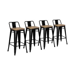 Astounding Shumake 26 Bar Stool Set Of 4 Unemploymentrelief Wooden Chair Designs For Living Room Unemploymentrelieforg