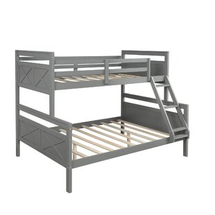 Twin Over Full Bunk Bed With LadderGrey by Sunside Sails