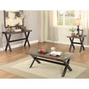Gracie Oaks Bethnal 3 Piece Coffee Table Set