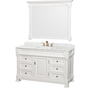Andover 55 Single Bathroom Vanity Set with Mirror by Wyndham Collection