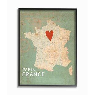 Vintage Paris Map   Wayfair