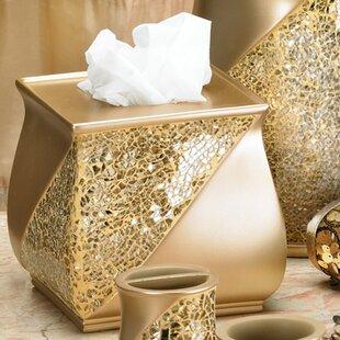 Compare prices Rivet Champagne Gold Tissue Box Cover ByWilla Arlo Interiors