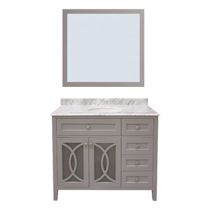 Buy luxury Margaret Garden 42 Single Bathroom Vanity with Mirror By NGY Stone & Cabinet