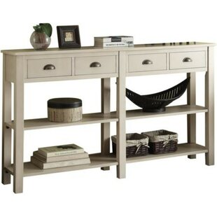 Quirion Wooden Console Table by Breakwater Bay