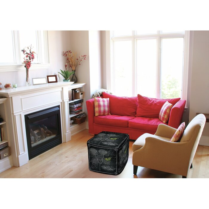 Cool Chalkboard Botanical Pouf Ottoman Unemploymentrelief Wooden Chair Designs For Living Room Unemploymentrelieforg