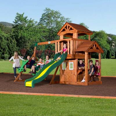 Backyard Discovery Monterey All Cedar Swing Set Reviews Wayfair