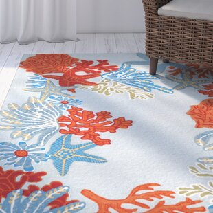 Clowers Ocean Scene Aqua Indoor/Outdoor Area Rug by Highland Dunes #2