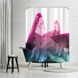 East Urban Home Emanuela Carratoni Rainbow Gems Shower Curtain
