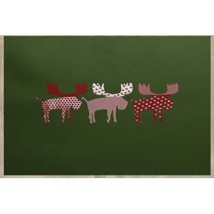 Reindeer Green Indoor/Outdoor Area Rug
