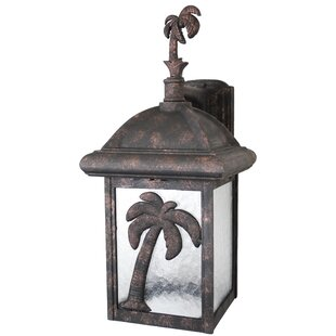 Price Check Penfield 1-Light Outdoor Wall Lantern By Alcott Hill