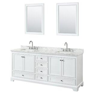 Deborah 80 Double Bathroom Vanity Set with Mirror By Wyndham Collection