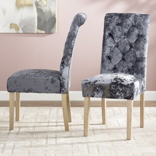 Alcott Hill Toland Button Tufted Upholstered Dining Chair (Set of 2)