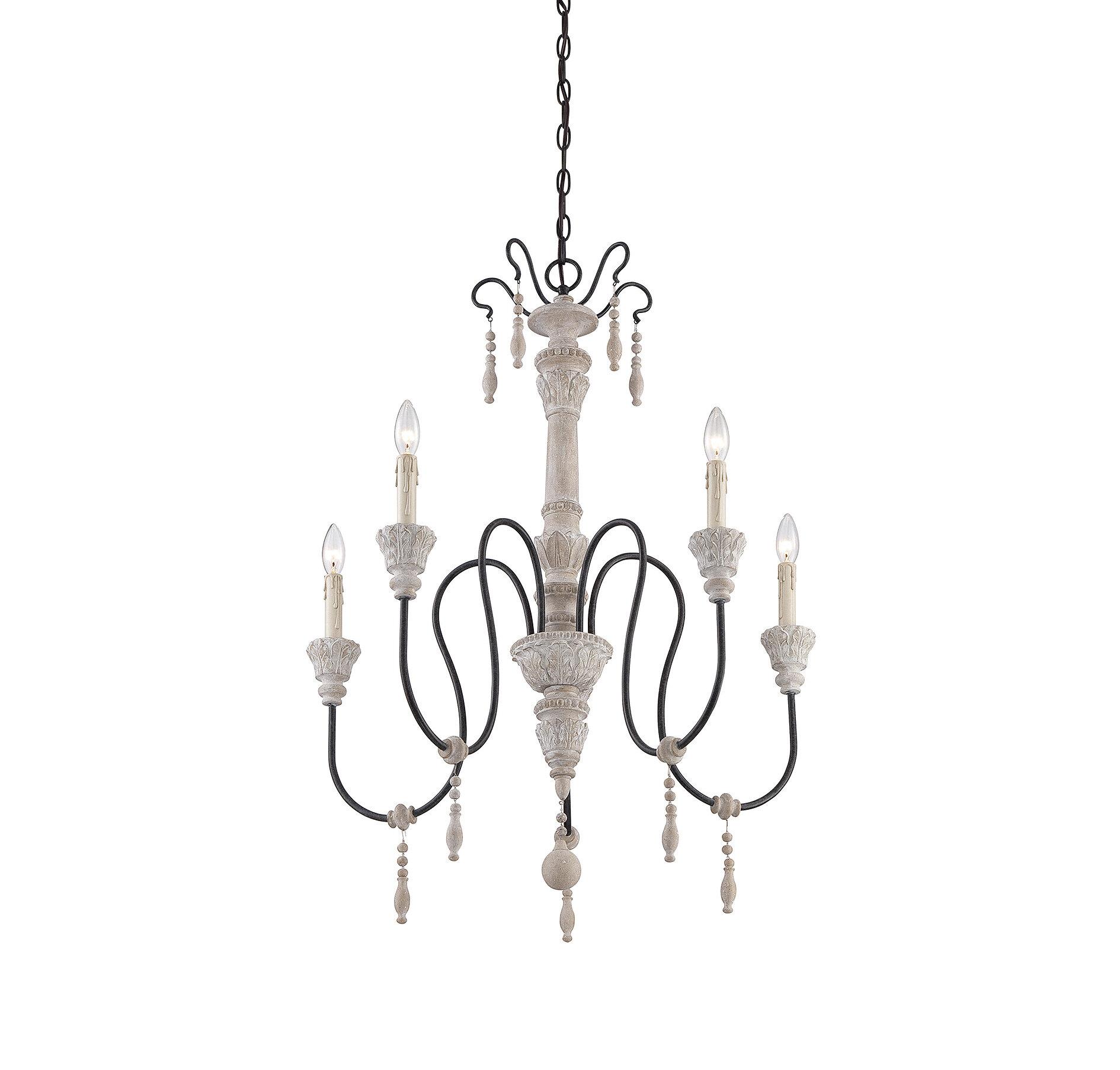 Lark Manor Corneau 5 Light Candle Style Chandelier & Reviews