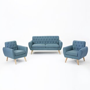 Blocker 3 Piece Living Room Set by George Oliver