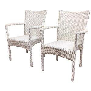 Santa Barbara Stacking Patio Dining Chair (Set Of 2)