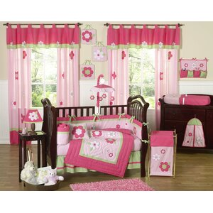 Flower 9 Piece Crib Bedding Set