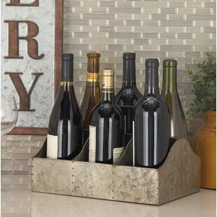 Hodapp Farmhouse Iron Rectangular 6 Bottle Tabletop Wine Rack by Williston Forge