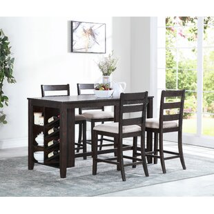 Belville 5 Piece Dining Set Alcott Hill