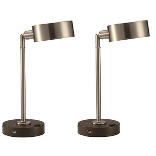 Rinaldi Adjustable USB LED 15 Desk Lamp (Set of 2)