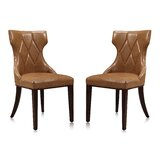 Sutherland Tuffed Velvet Upholstered Upholstered Solid Back Side Chair (Set of 2) by House of Hampton®