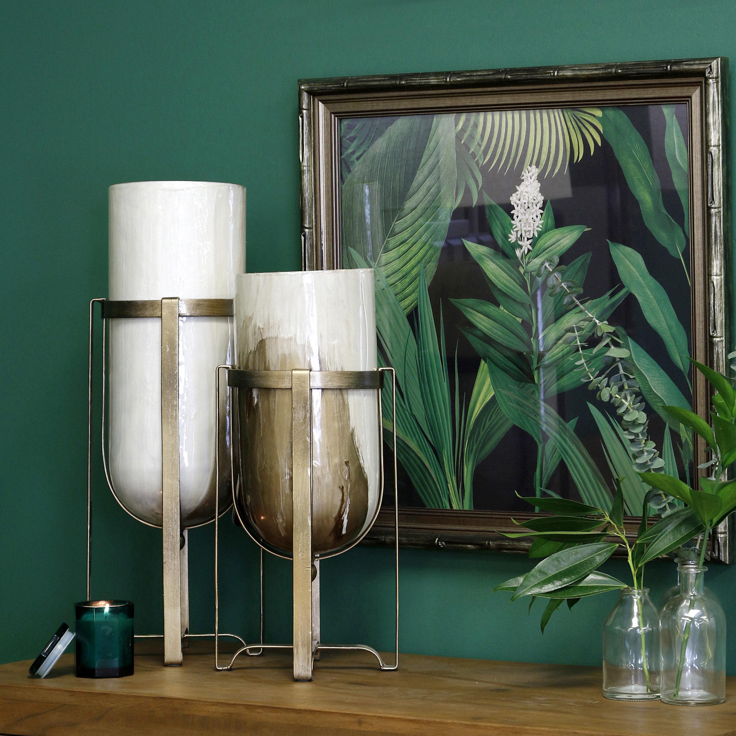 Glass White Vases Urns Jars Bottles You Ll Love In 2021 Wayfair