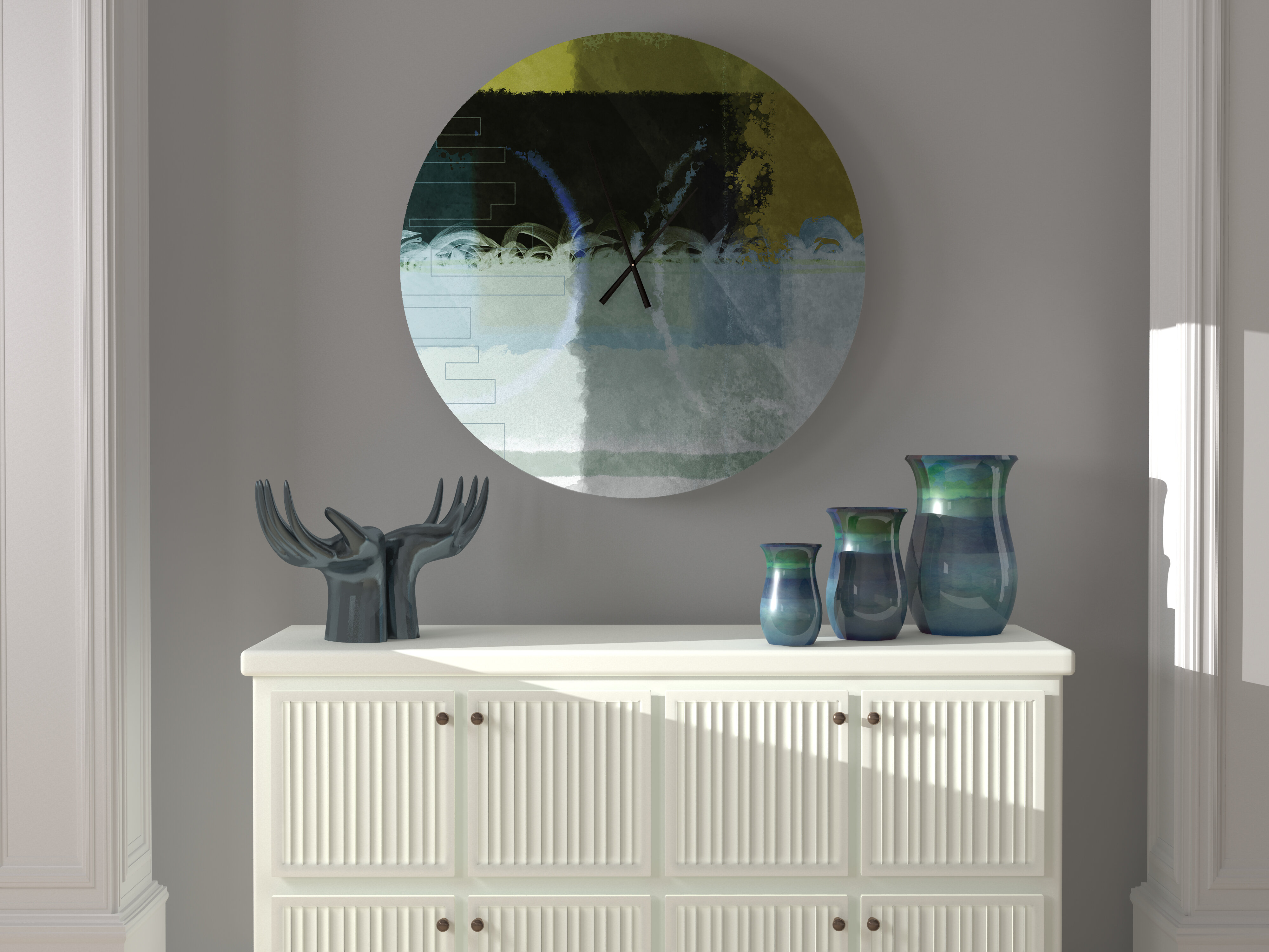 Latitude Run High Reaching Most Abstract Metal Wall Clock Wayfair