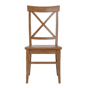 Fortville X-back Solid Wood Dining Chair (Set of 2)