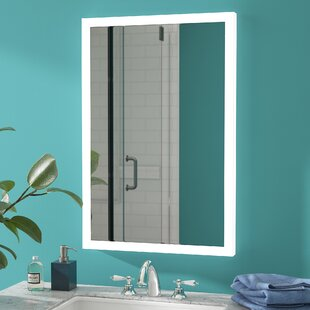 Reviews LED Lighted Accent Mirror By Wade Logan