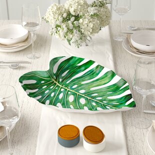 Orient Monstera Leaf Melamine Platter