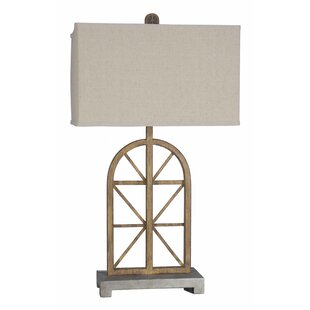 Dandre Lodge Wooden Window 32 Table Lamp