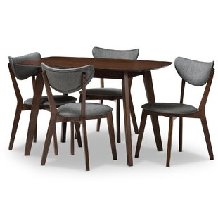 Chapa Upholstered 5-Piece Dining Set by George Oliver