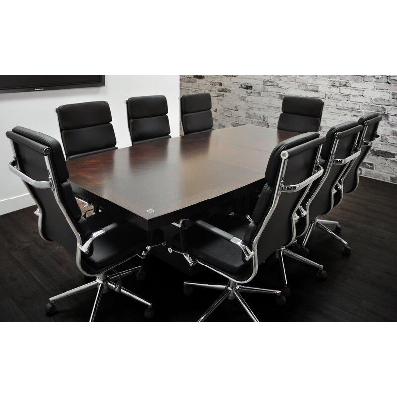 Orren Ellis Flickinger Boat Shaped H X W X L - L shaped conference table