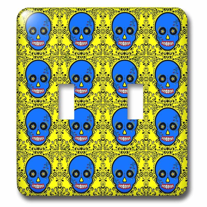 3dRose Day Of The Dead Skull Día De Los Muertos Sugar Skull Print Double  Light Switch Wayfair