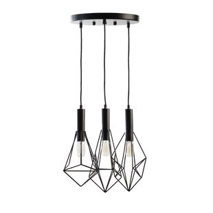 Wrought Studio Dickerman 3-Light Cluster Pendant