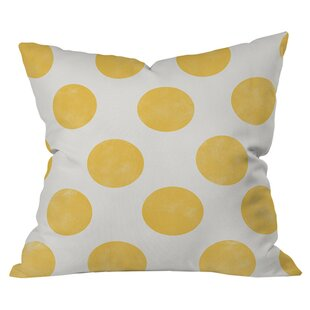 Spring Dots Outdoor Throw Pillow