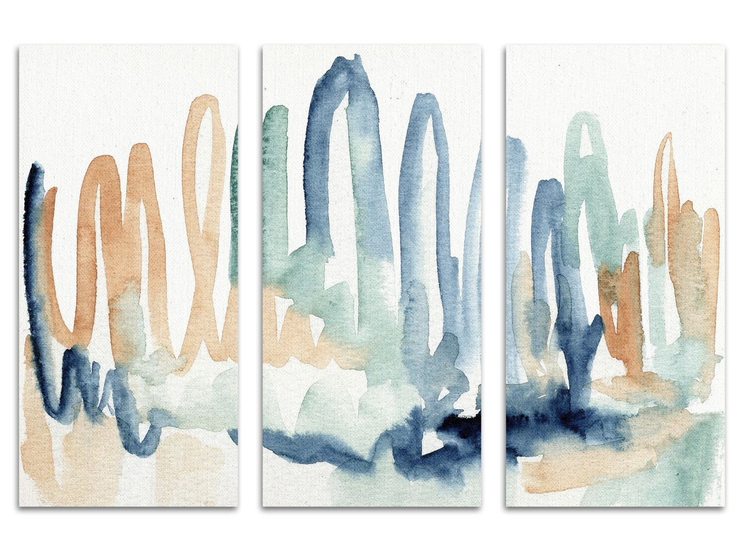 Ivy Bronx Seaglass Thoughts Triptych Print Multi Piece Image On Canvas Wayfair