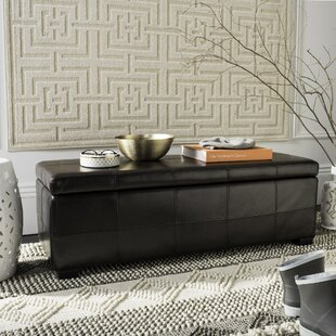 Sergei Leather Storage Bench b..