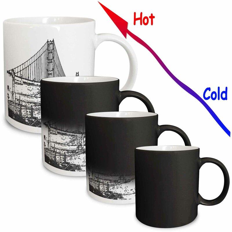 3drose Golden Gate Bridge San Francisco Line Art Coffee Mug Wayfair