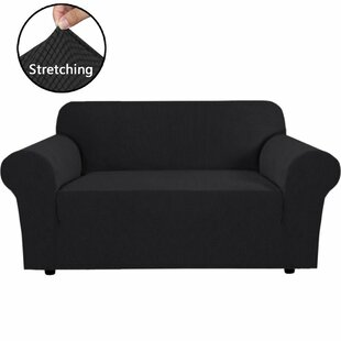 Stretch Box Cushion Loveseat Slipcover By Symple Stuff
