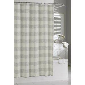 Linen Ruffle Shower Curtain | Wayfair