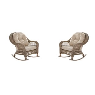 Bungalow Rose Procopio Rocking Chair with Cushions (Set of 2)