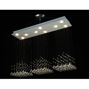 Orren Ellis Holsey Rain Drop 9-Light Semi Flush Mount