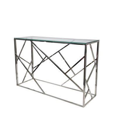 Modern Clear Amp Silver Console Tables Allmodern