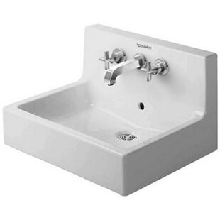 Best Vero Ceramic 23.62 Wall Mount Bathroom Sink with Overflow By Duravit